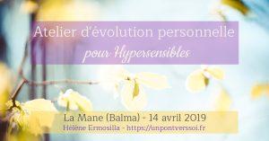 Atelier d'évolution personnelle pour Hypersensibles Toulouse