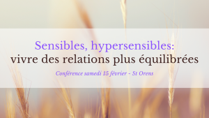 Conférence Hypersensibles Relations - Saint Orens
